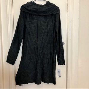 Alyx Long Sleeve Cowl Neck Sweater Dress Large